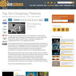 Top Ten Conspiracy Theories | Moon Landing Hoax, JFK's Assassination & The Roswell (UFO) Crash Cover-Up