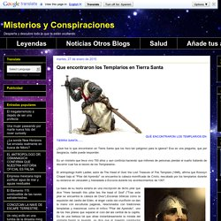 Que-encontraron-los-templarios-en Tierra Santa