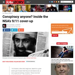 Conspiracy anyone? Inside the NSA's 9/11 cover-up