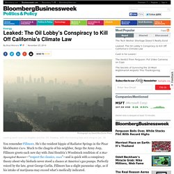 Leaked: The Oil Lobby's Conspiracy to Kill off California's Climate Law