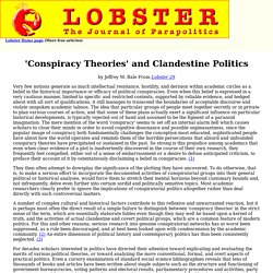 'Conspiracy Theories' and Clandestine Politics