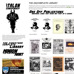 The Talon Conspiracy » The (in)Complete Library