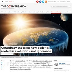 Conspiracy theories: how belief is rooted in evolution – not ignorance
