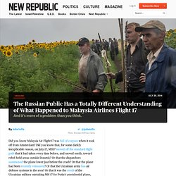 Russia Conspiracy Theories Trap Putin Malaysia Airlines MH17