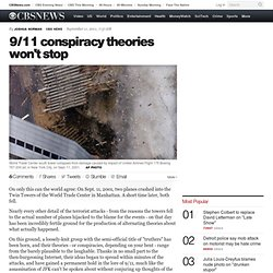 9/11 conspiracy theories won't stop - CBS News - CometBird