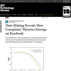 Data Mining Reveals How Conspiracy Theories Emerge on Facebook
