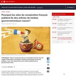 Pourquoi les sites de conspiration français publient-ils des articles de médias gouvernementaux russes?