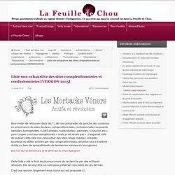 Liste non exhaustive des sites conspirationnistes et confusionnistes [VERSION 2015] – La Feuille de Chou