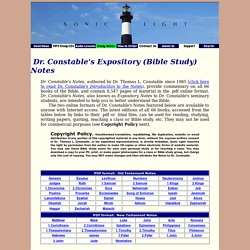 Dr. Constable's Bible Study Notes and Commentary
