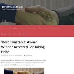 'Best Constable' Award Winner Arrested For Taking Bribe