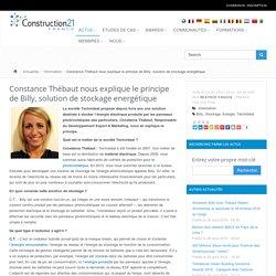 Constance Thébaut nous explique le principe de Billy, solution de stockage energétique