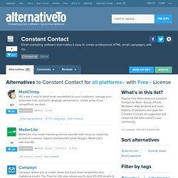 Free Constant Contact Alternatives
