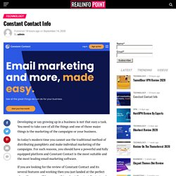 Constant Contact: Best Email Marketing Software in Market