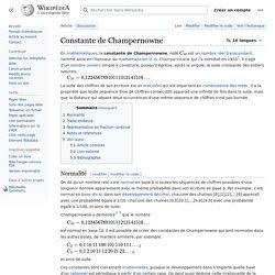 Constante de Champernowne