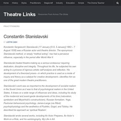 Constantin Stanislavski – Theatre Links
