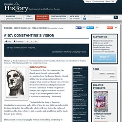 Constantine's vision: Christian History