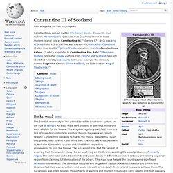 Constantine III of Scotland