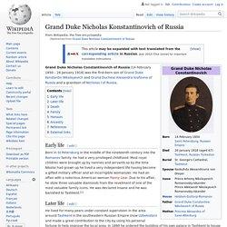 Grand Duke Nicholas Constantinovich of Russia