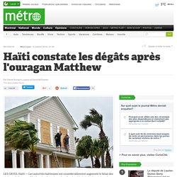Haïti constate les dégâts après l'ouragan Matthew