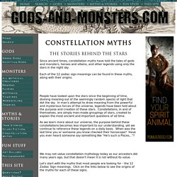 Constellation Myths - The Stories Behind The Stars