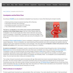 Constipation and the Pelvic Floor