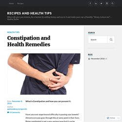 Constipation and Health Remedies – Recipes and Health tips