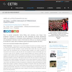 Le Chili : luttes sociales et processus constituant - CETRI, Centre Tricontinental