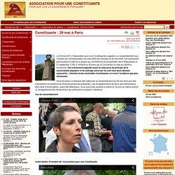 Constituante: 29 mai à Paris