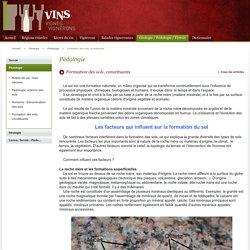 Formation des sols, constituants / Pédologie / Géologie / Vins VignesVignerons