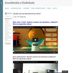 Los derechos de los niños « Constitución y Ciudadanía