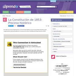 La Constitución de 1853: Proceso histórico