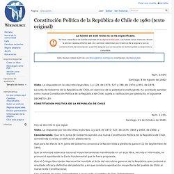 Constitución Política de la República de Chile de 1980 (texto original)