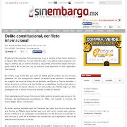 Delito constitucional, conflicto internacional