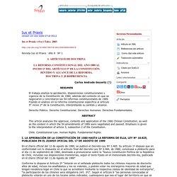 LA REFORMA CONSTITUCIONAL DEL AÑO 1989 AL INCISO 2º DEL ARTÍCULO 5º DE LA CON...