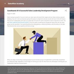 Constituents Of A Successful Sales Leadership Development Program