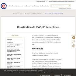 Constitution de 1848, IIe République