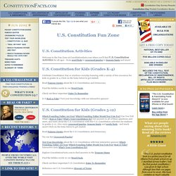 United States (U.S.) Constitution for Kids — Activities, Quizzes, Puzzles, & More
