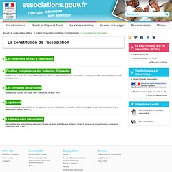 La constitution de l'association - associations.gouv.fr