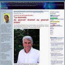 Décembre 2012, Philippe Derudder : La monnaie, du pouvoir d'achat au pouvoir d'être