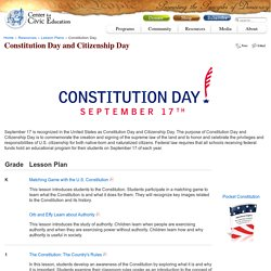 Constitution Day and Citizenship Day - Civiced.org