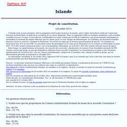 Islande, Projet de Constitution 2011, Digithèque MJP