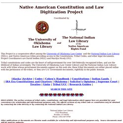 Native American Constitution and Law Digitization Project