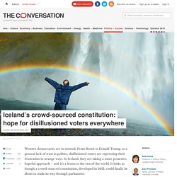 Iceland's crowd-sourced constitution: hope for disillusioned voters everywhere