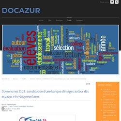 Ouvrons nos C.D.I ; constitution d'une banque d'images autour des espaces info-documentaires
