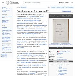 Constitution du 5 fructidor an III