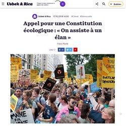 Appel pour une Constitution écologique : « On assiste à un élan »