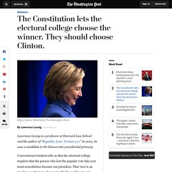 The Constitution lets the electoral college choose the winner. They should choose Clinton.