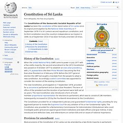 Constitution of Sri Lanka