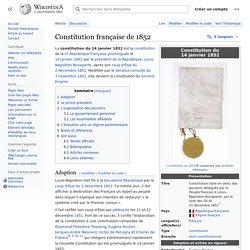Constitution française de 1852