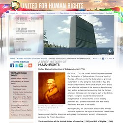 United States Constitution, Bill of Rights, Declaration of Independence: United for Human Rights